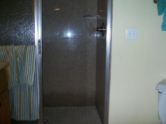 Cypress Pointe Resort: double shower in main bedroom