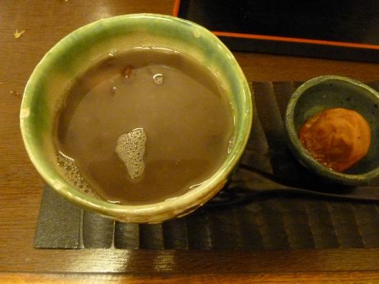 Momijitei: Azuki dessert (sweet redbean soup with sticky rice)