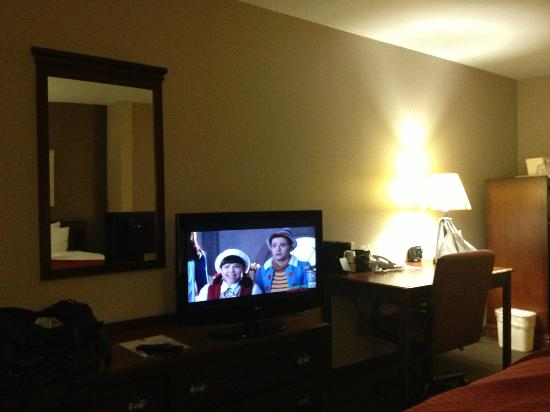 Comfort Suites Coralville: Flat screen TV