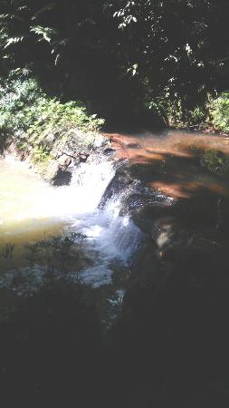 Borneo Tropical Rainforest Resort: The small waterfall we encountered during the resort tour