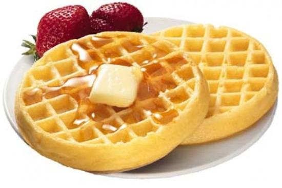 Saskatoon Thriftlodge: Our complimentary breakfast features waffles with Saskatoon Berry or Strawberry toppings