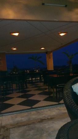 Angkor Panoramic Boutique Hotel: view from my lounge on the rooftop bar across the restuarant