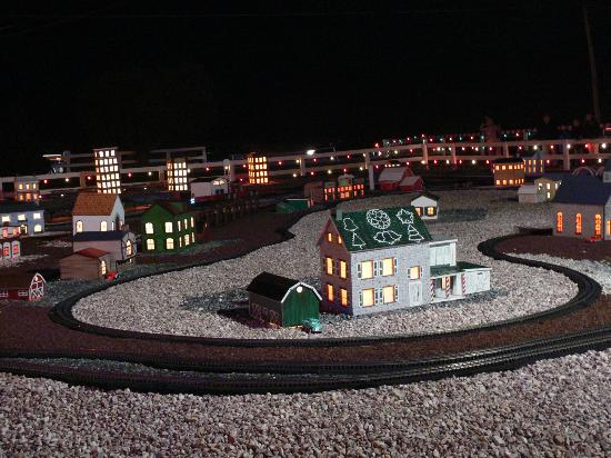 Train Set For Christmas Village