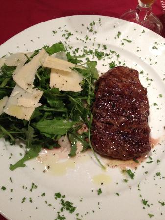 Carpaccio: steak beef, it is very delicious