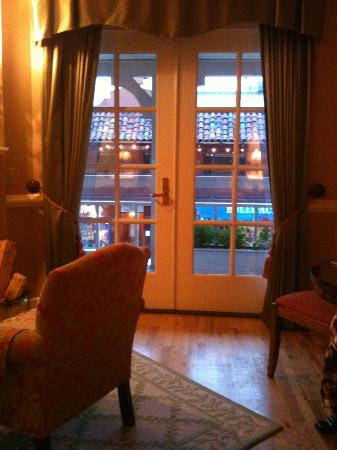 Spindrift Inn: French doors to balcony
