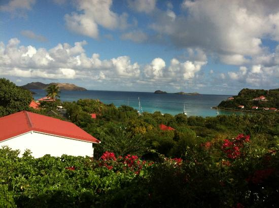 Hotel Le Village St Barth: View from dining area
