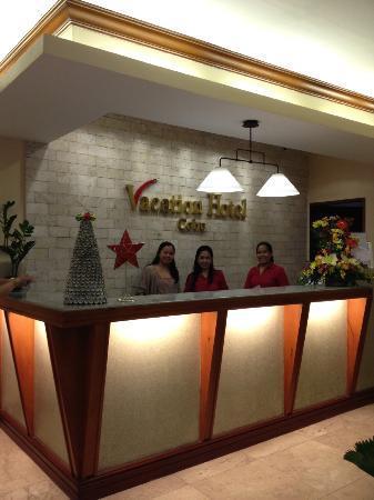 Vacation Hotel Cebu: Front Desk