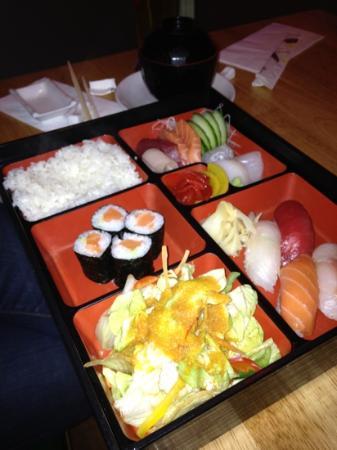 a bento box picture of mai sushi london tripadvisor. Black Bedroom Furniture Sets. Home Design Ideas
