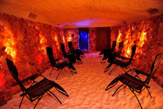 Salt Caves: Salt therapy is a relaxing, non invasive experince. Takes only 45 minutes.