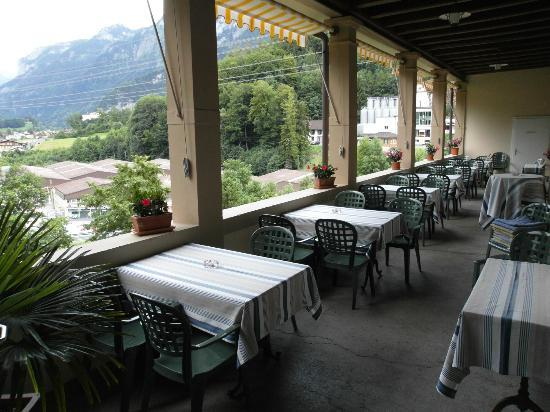 Waldhotel Unspunnen : Terrasse