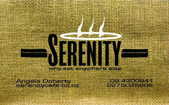 Serenity Cafe: The latest business card