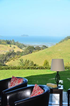 Matakana Castle: View from guest lounge