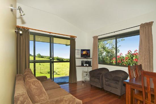Alstonville country cottages: Lounge area of two bedroom cottage