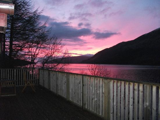 Letterfinlay Lodge Hotel: glorious sunset