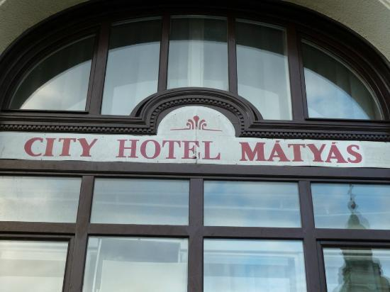 City Hotel Matyas: Front of hotel