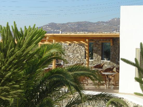 Vencia Hotel: la colazione è servita nella veranda vista mare