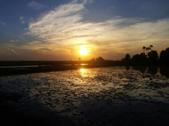 Sun Sothy Guesthouse: notre première ballade à vélo sur le chemin derrière la guesthouse