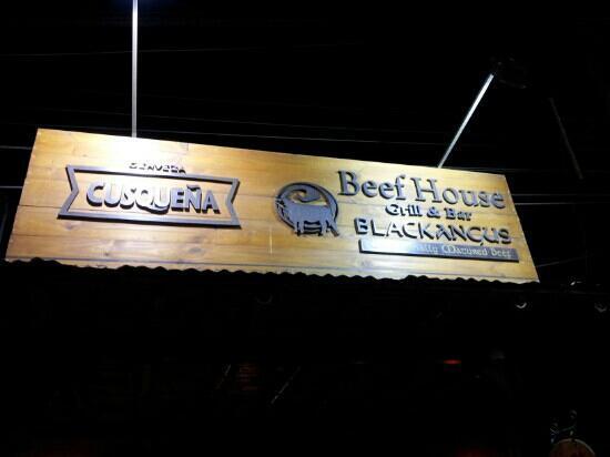 Restaurant Beef House: Cartel de entrada