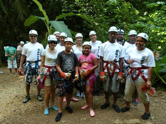 Chukka Caribbean Adventures in Belize: Strapped in and ready for the adventure!