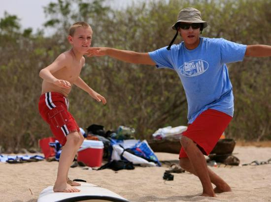 Point Break Surf School: Practicing on the beach