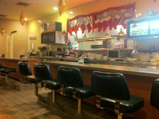 Juicy's Famous River Cafe: stockings are hung for Christmas