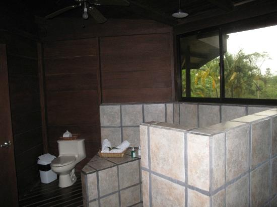 Chachagua Rainforest Eco Lodge: Rain shower!!