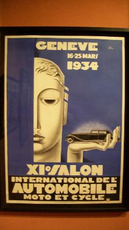 Louwman Museum The Hague: Automobilausstellung 1934 Plakat