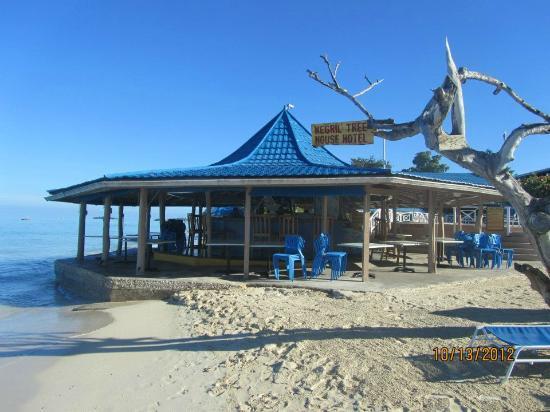Negril Tree House Resort: Bar/restaurant on the beach