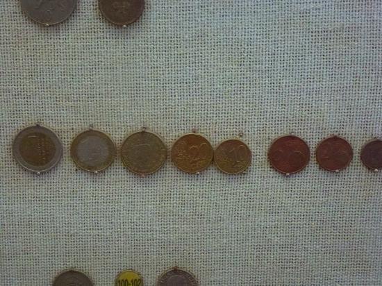 Coin Museum: auch aktuelle Euro-Münzen sind zu sehen