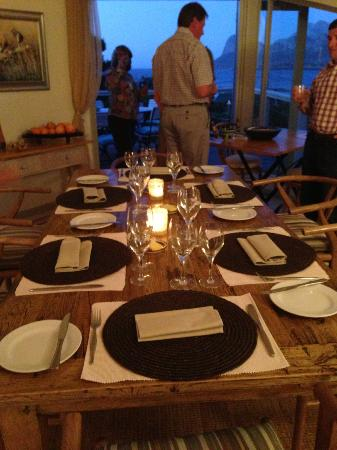 Wild Olive Guest Lodge: Each day the table was laid differently