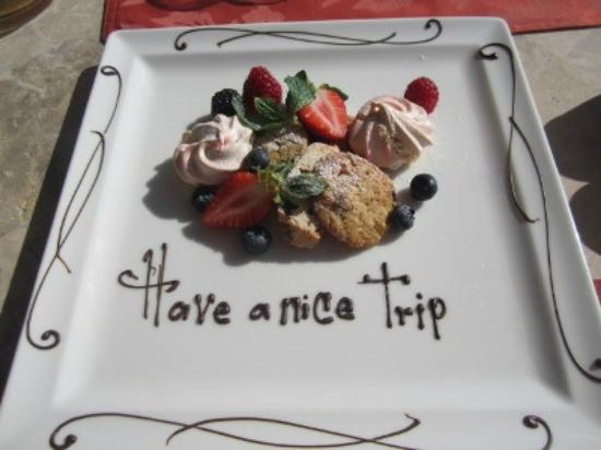 Grand Solmar Land's End Resort & Spa: A treat from the Restaurant on our last day there =)