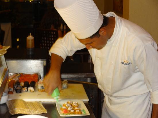 TRS Yucatan Hotel: Making me my special Sushi