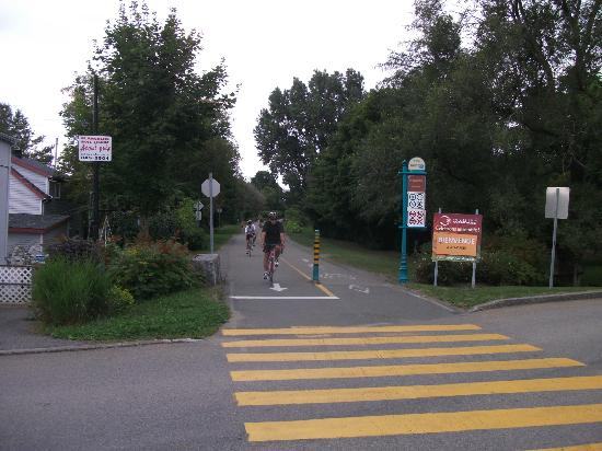 Wendake, piste cyclable
