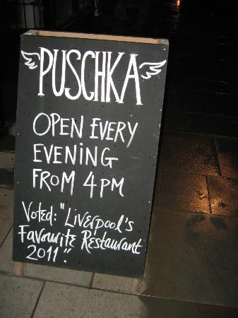Puschka: Sandwich Board