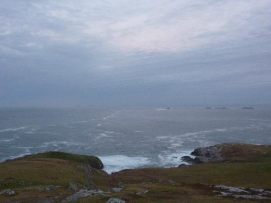 View from Malin Head - small islands / rocks to the north Nov 2012