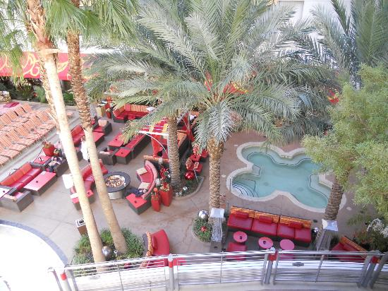 Golden Nugget Hotel: large hot tub and pool area as seen from upper deck