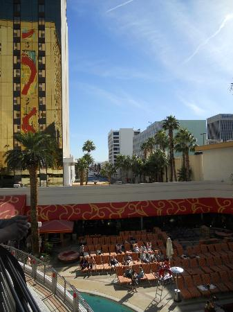 Golden Nugget Hotel: View from H2O Hideout pool