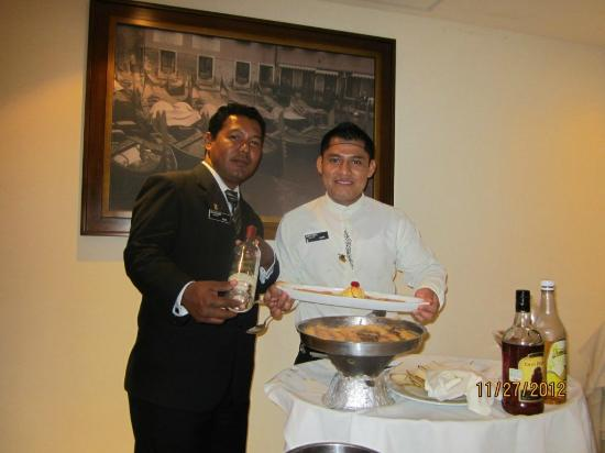 Heaven at the Hard Rock Hotel Riviera Maya: Our fabulous waiter, Victor, at the La Trattoria