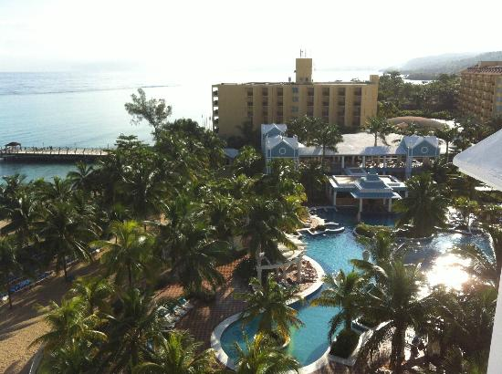 Hotel Riu Ocho Rios: view from building 2, 5th floor