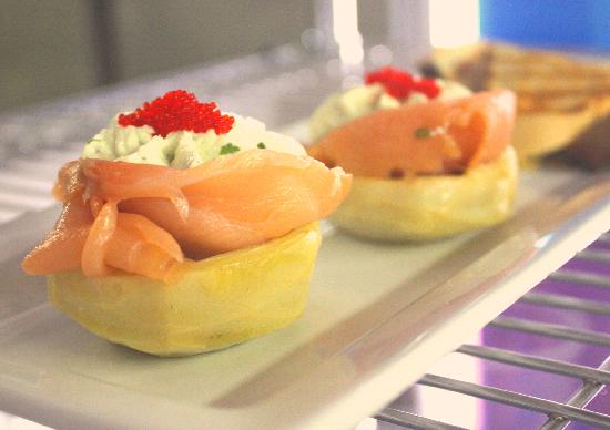 The Twisted Cork Cafe: Housemade Boursin Gheese and Smoked Salmon Artichokes