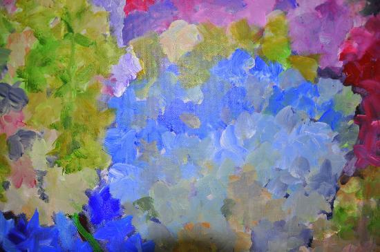 Aasvoelkrans Bed and Breakfast: One of Jeanne's paintings