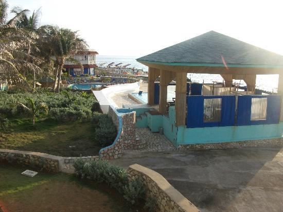 Samsara Cliffs Resort: view from my room - the spa