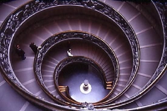 Rome with the Romans: The old staircase of the Vatican Museums