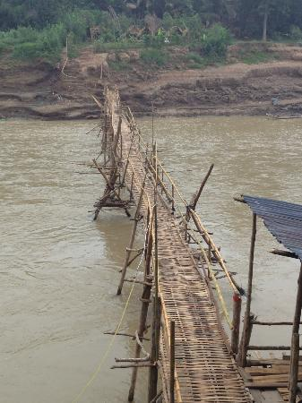 My Dream Boutique Resort: The bamboo bridge into town, just down the road from the hotel.