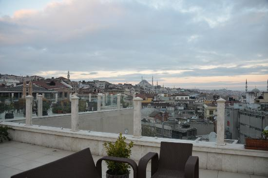 Neorion Hotel: View from Rooftop Terrace