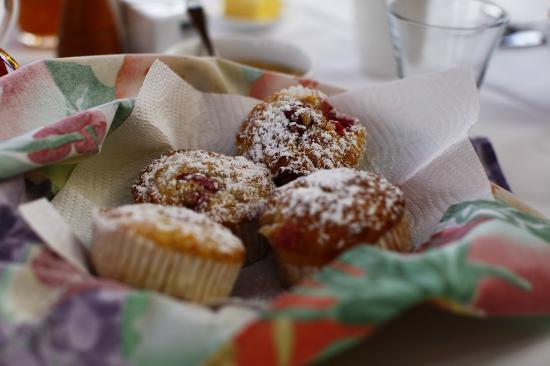 Stonehaven Homestay: Paulette's freshly cooked muffins