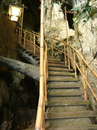 The Banjaran Hotsprings Retreat: Stairs to The Balcony for a view of the Resort