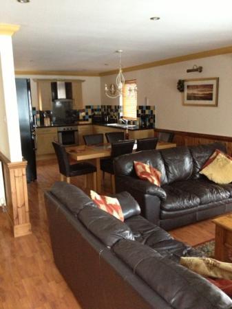 Lomond Luxury Lodges: lounge and kitchen