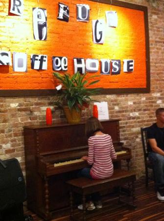 The Refuge Coffee House: Piano play if you can!