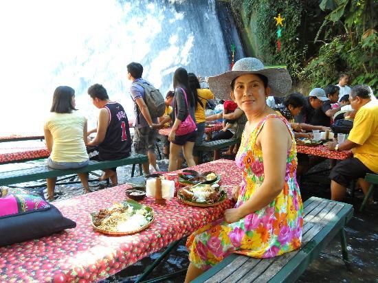 Buffet Lunch At Water Falls Picture Of Villa Escudero